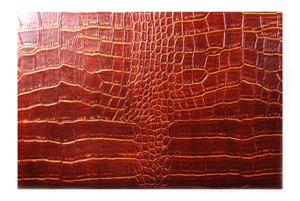 Embossed Artificial Crocodile Leather