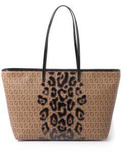"FENDI ""Roll"" Patent Leather Leopard Tote"